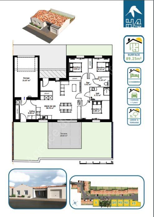 Maison à vendre Brem-sur-Mer 5463 Centre-ville et à quelques pas de la plage